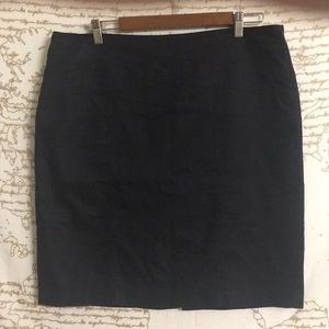 Dalia Collection Lined Black Jean Skirt